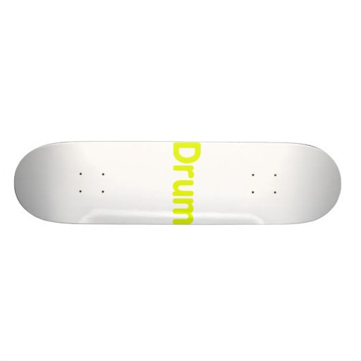 drum text yellow music design skate board decks