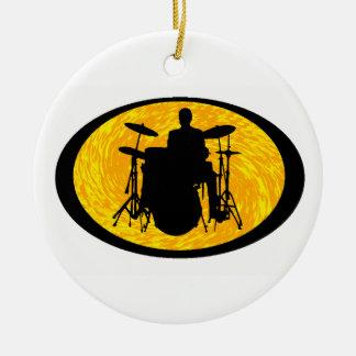 Drum To It Ceramic Ornament