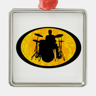 Drum To It Metal Ornament