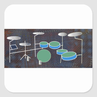 Drum World Square Sticker
