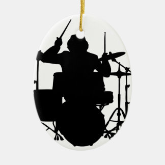 drumer.png ceramic ornament