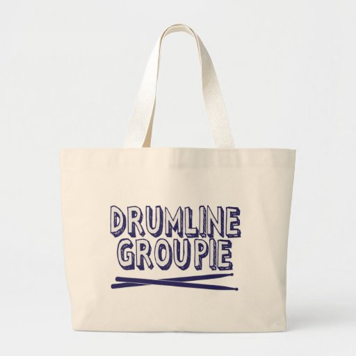 Drumline Groupie with Sticks Canvas Bags