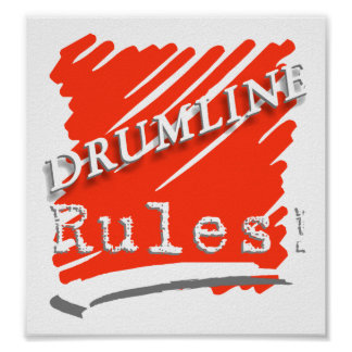 Drumline rules poster