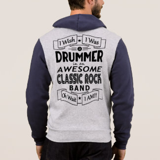 DRUMMER awesome classic rock band (blk) Hoodie