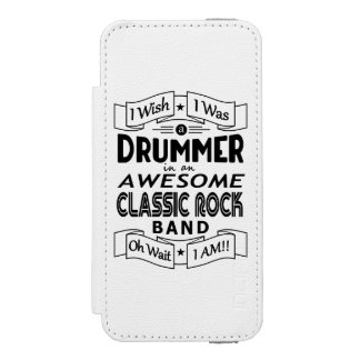 DRUMMER awesome classic rock band (blk) Incipio Watson™ iPhone 5 Wallet Case