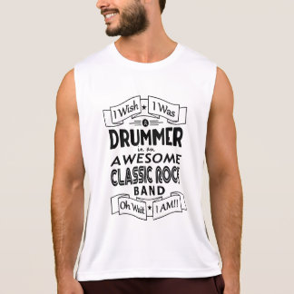 DRUMMER awesome classic rock band (blk) Singlet