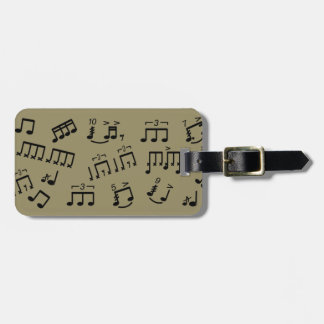 Drummer Bag ID Luggage Tag Percussion Music Notes