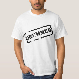 Drummer Basic White T-Shirt