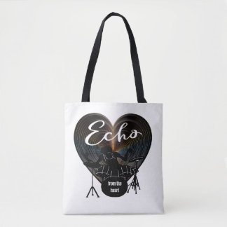 Drummer Beating On Drums - Echo From The Heart Tote Bag