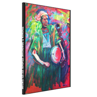 drummer boy 1, Mojisola A Gbadamosi Okubule Oil... Canvas Print