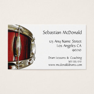 Percussion business cards business card printing zazzle drummer business card percussion business card colourmoves Image collections