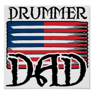 Drummer Dad Replacement Poster