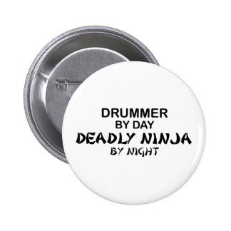 Drummer Deadly Ninja by Night 6 Cm Round Badge