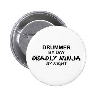 Drummer Deadly Ninja by Night 6 Cm Round Badge