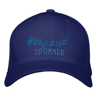 Drummer Embroidered Music Hat Embroidered Baseball Caps