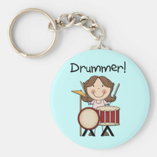 Drummer - Female Tshirts and Gifts Key Ring