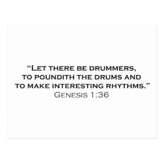 Drummer / Genesis Postcard