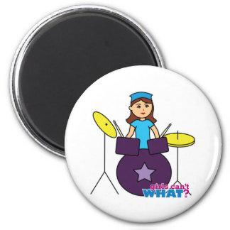 Drummer Girl Fridge Magnets