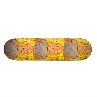 drummer girl rocks 19.7 cm skateboard deck