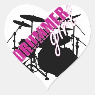 Drummer Girl Sticker