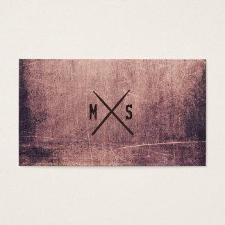 Drummer Grunge Drumsticks Monogrammed Business Card