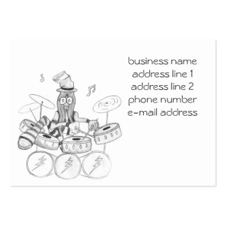 Drummer Guy Pack Of Chubby Business Cards