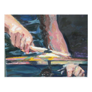 Drummer hands postcard
