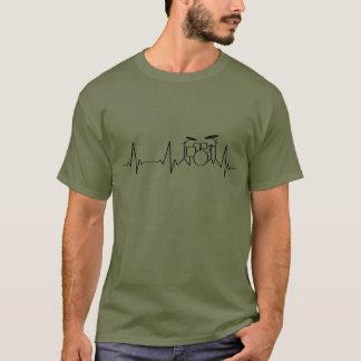 Drummer Heartbeat | Beating Drums | T-Shirt