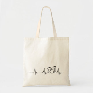 Drummer Heartbeat | My Heart Beats for a Drum Kit Tote Bag
