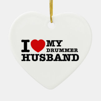 Drummer Husband Designs Ceramic Ornament