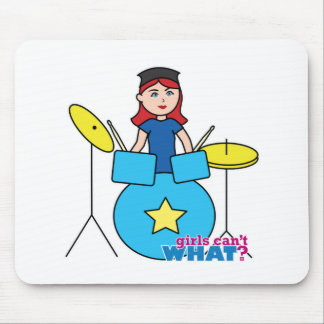 Drummer Light Red Mouse Pad