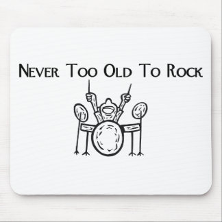 Drummer Never Too Old To Rock Mouse Pad