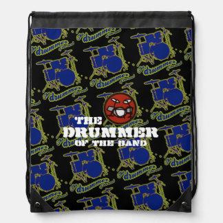drummer of the band drawstring bag