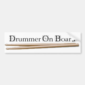 Drummer On Board 08 Bumper Sticker
