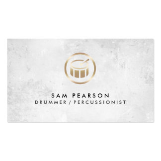 Drummer Percussionist Drums Icon Business Card Business Cards