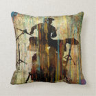 Drummer Pillow, Copyright Karen J Williams Cushion