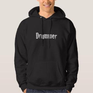 Drummer text for dark hoodie