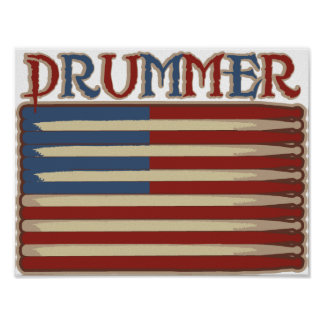 Drummer Vintage Poster