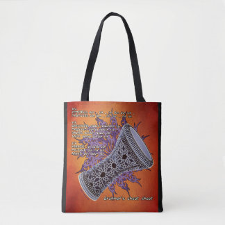 Drummer's Cheat Sheet Tote Bag