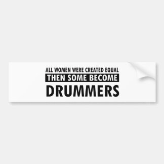 Drummers music designs bumper stickers