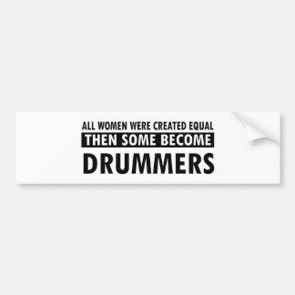 Drummers music designs bumper sticker