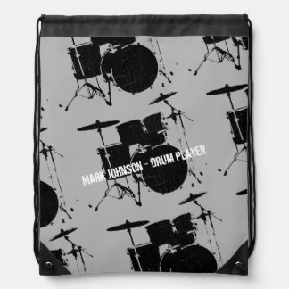 drummer's personalized drawstring bag