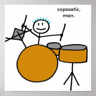 Drumming Boy Poster