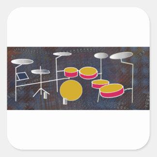 Drumming Fun! Square Sticker