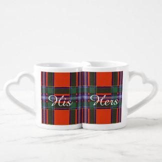 Drummond clan Plaid Scottish tartan Lovers Mug