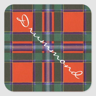 Drummond Scottish clan tartan - Plaid Square Sticker