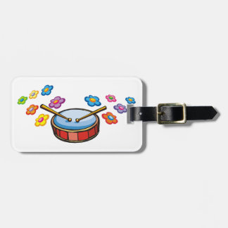 Drums and Flowers Luggage Tag