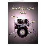 Drums (customisable) greeting card