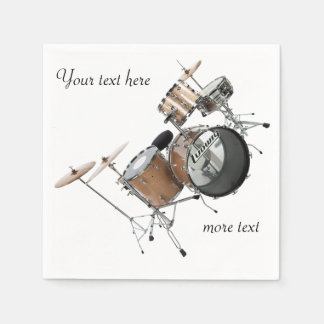Drums Drummer Drum Set Band Musician Disposable Serviettes