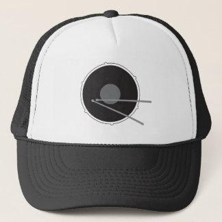 Drums Drummer Hard Core Love Rock Music Black Cool Trucker Hat